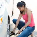 Roadside car safety, tire repair