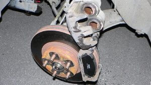 suv brake caliper replaced